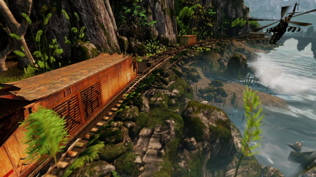 Taking the Train (Uncharted 2) | The Top 10 Most Insane Video Game Set Pieces | Gammicks.com