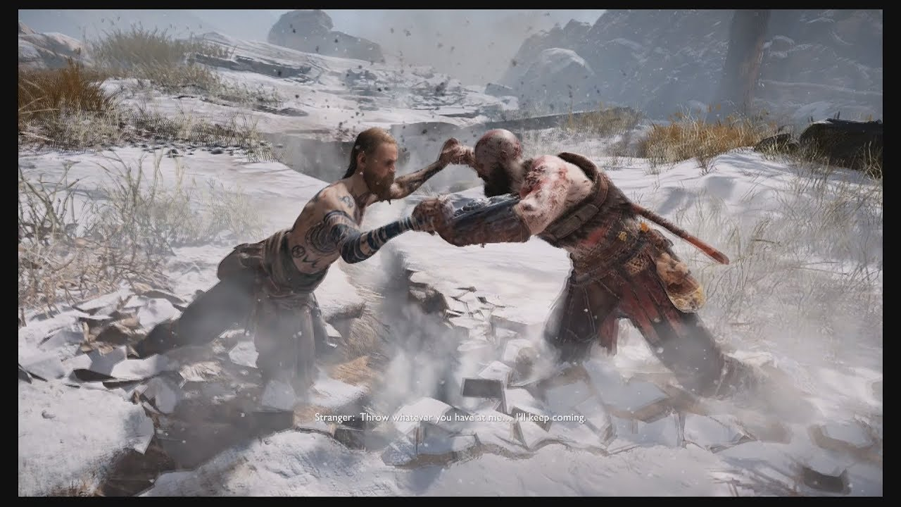 The Stranger (God of War 2018) | The Top 10 Most Insane Video Game Set Pieces | Gammicks.com