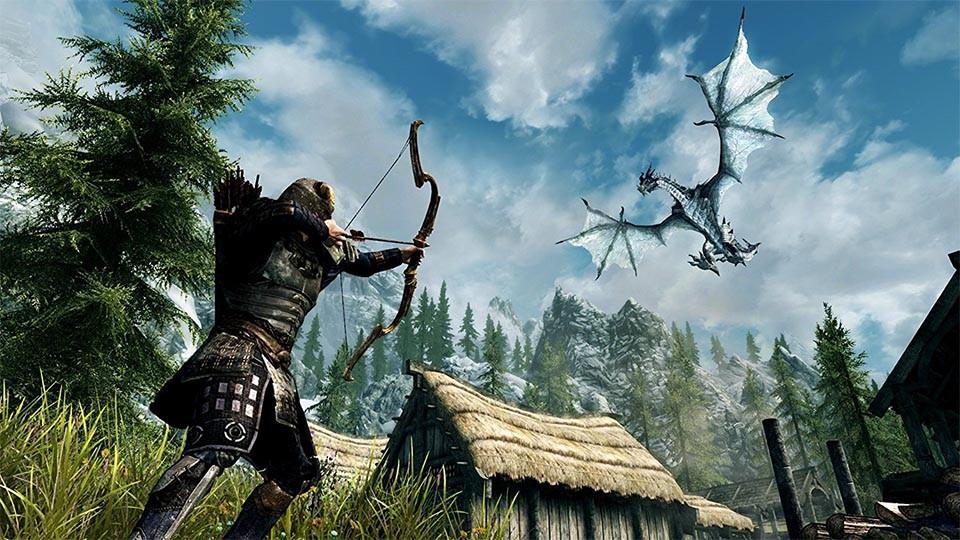 The Elder Scrolls V: Skyrim   Top 10 Fantasy Games Of All Time, Ranked   Gammicks.com
